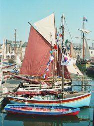 Sailing boats at Paimpol, Brittany, photo by Roger