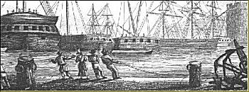 Heaving on Plymouth Quayside, approx. 1800